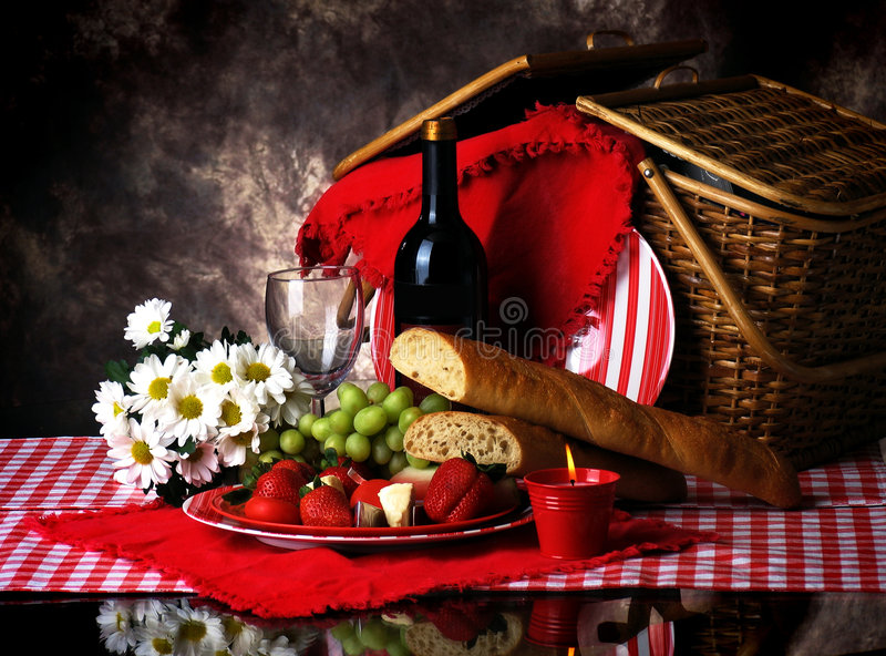 Picknick voor Twee stock foto