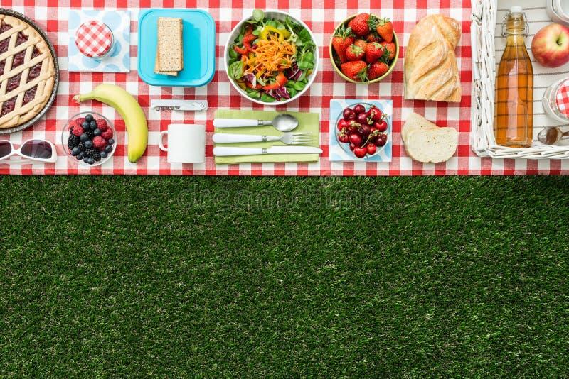 Picknickbanner royalty-vrije stock afbeelding