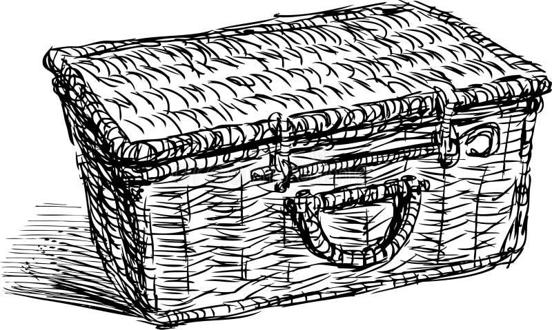 Picknickmand royalty-vrije illustratie
