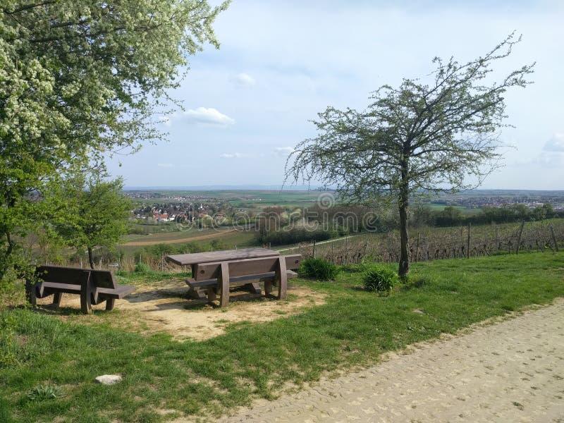 Picknickplatz ` Wasserhochbehälter-` Ebersheim stockfotografie