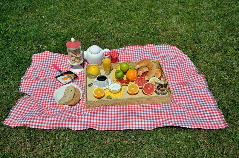 Picknicktak royalty-vrije stock afbeelding