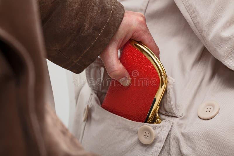 Pickpocket avec le portefeuille photo stock