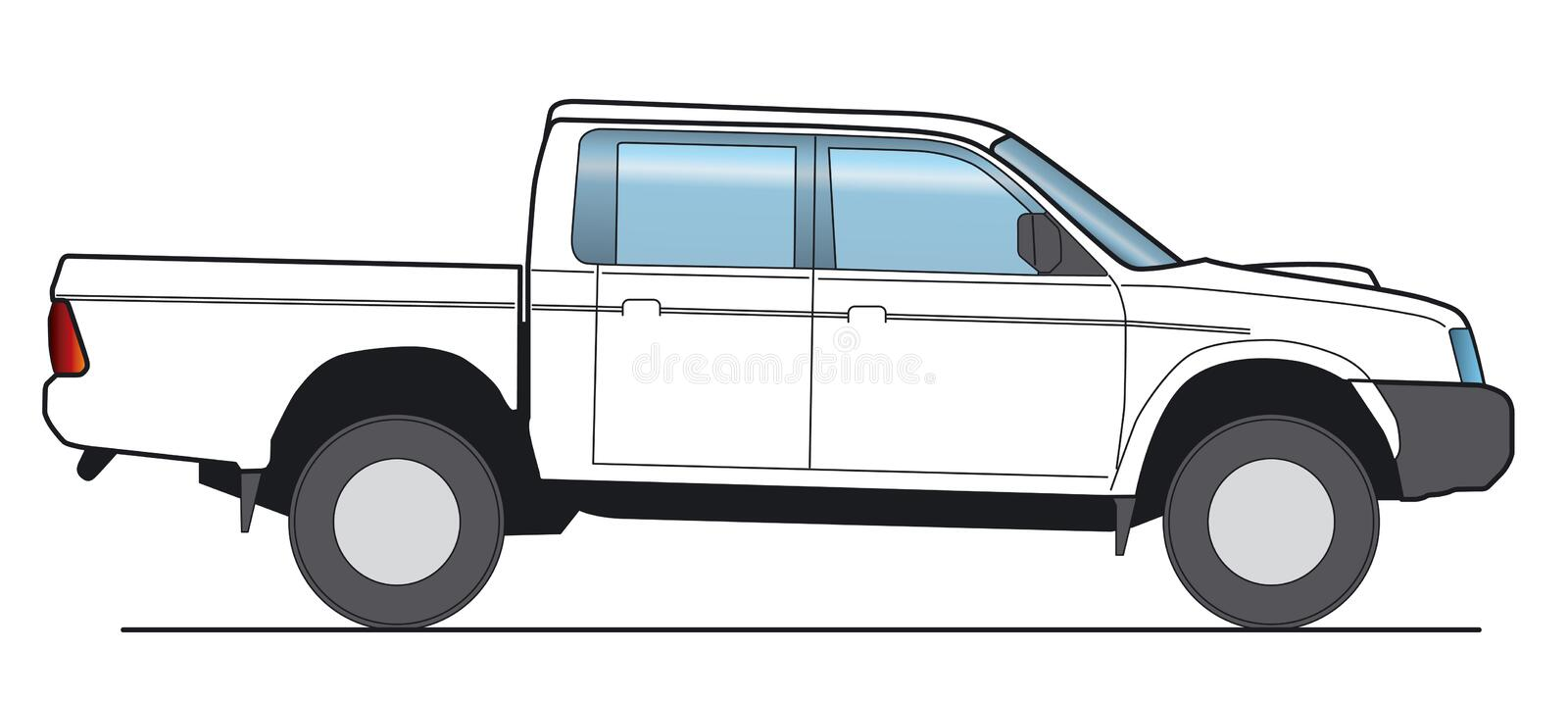 Pickup vector illustration