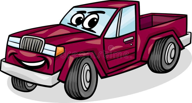 Pickup Car Character Cartoon Illustration Stock Photos