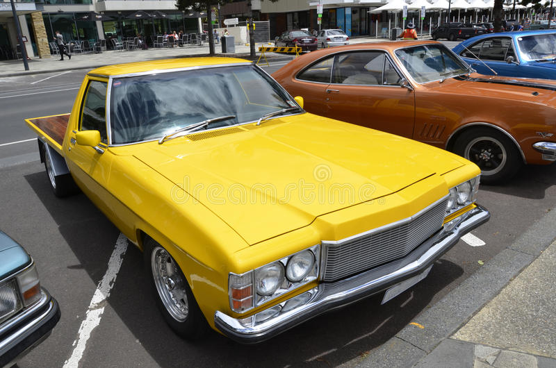 Pickup. Geelong, Victoria. Australia. The Geelong Revival is action packed weekend with up to 300 vehicles racing over a 1/4 mile. And 500+ classic & exotic royalty free stock images