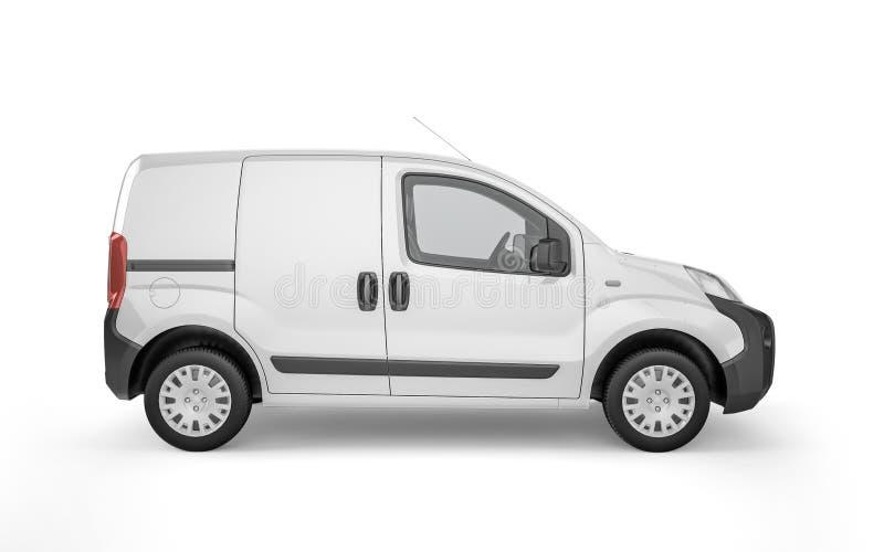 Pickup samochód na białym tło egzaminie próbnym up ilustracji