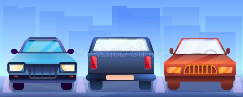 Pickup samochodów pojęcia sztandar, kreskówka styl royalty ilustracja