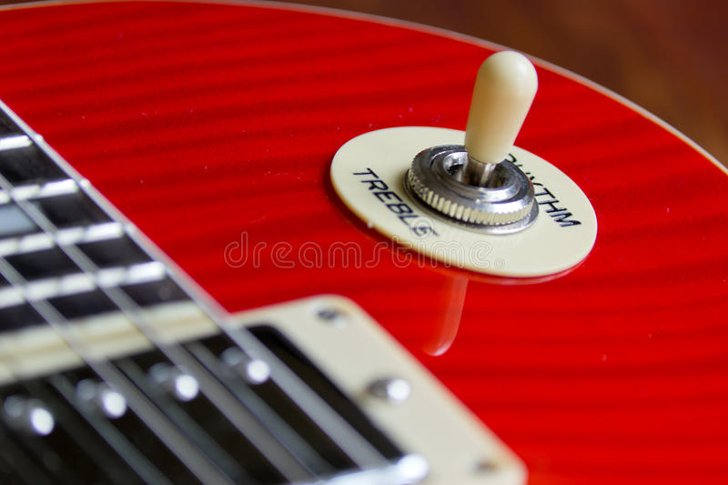 Pickup switch. Closeup of a guitar pickup selector royalty free stock photography
