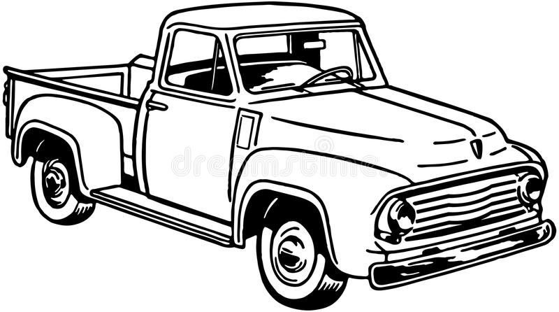 pickup truck 2 stock vector  illustration of clipart