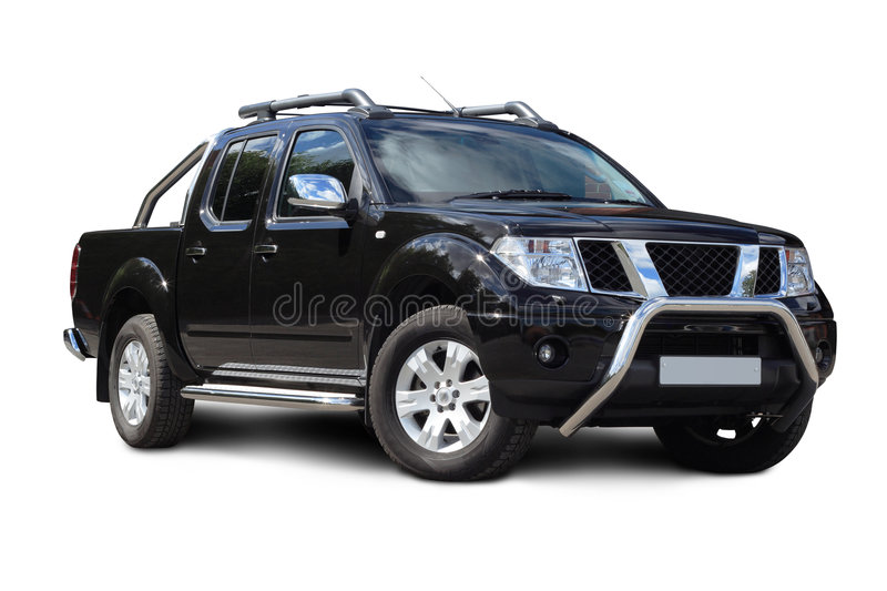 Pickup truck isolated stock image