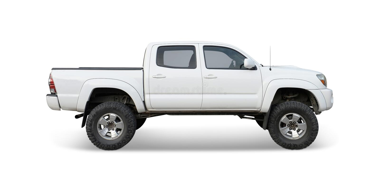 Pickup Truck. A pickup truck on white royalty free stock photography