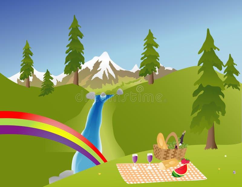 picnic βουνών απεικόνιση αποθεμάτων