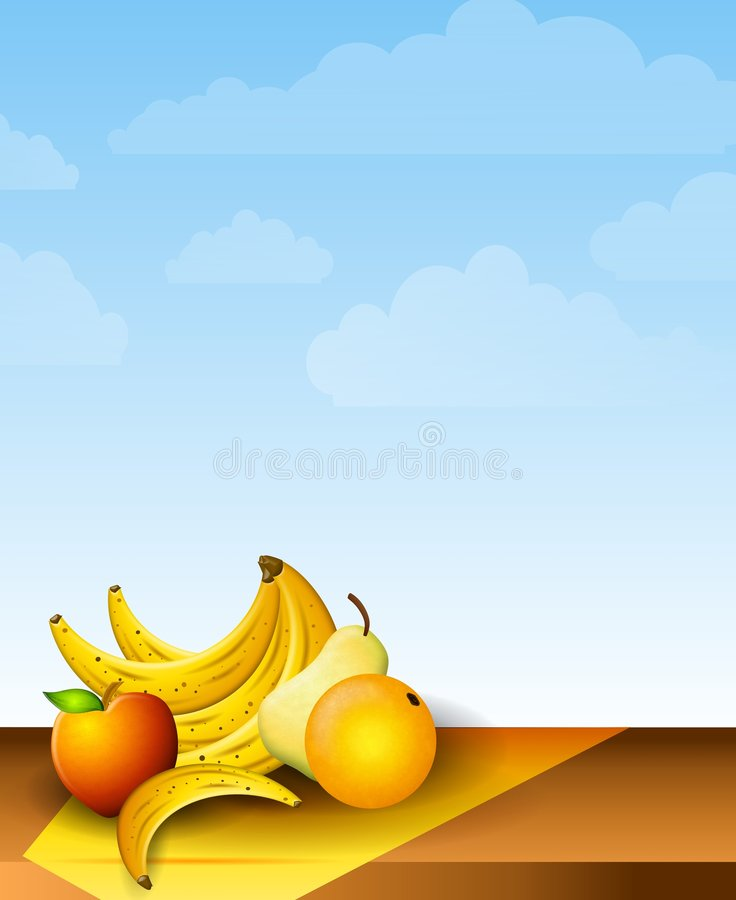 picnic νωπών καρπών πίνακας απεικόνιση αποθεμάτων
