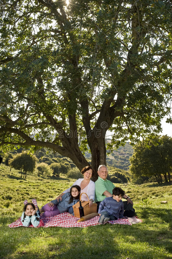 picnic παππούδων και γιαγιάδων & στοκ εικόνες