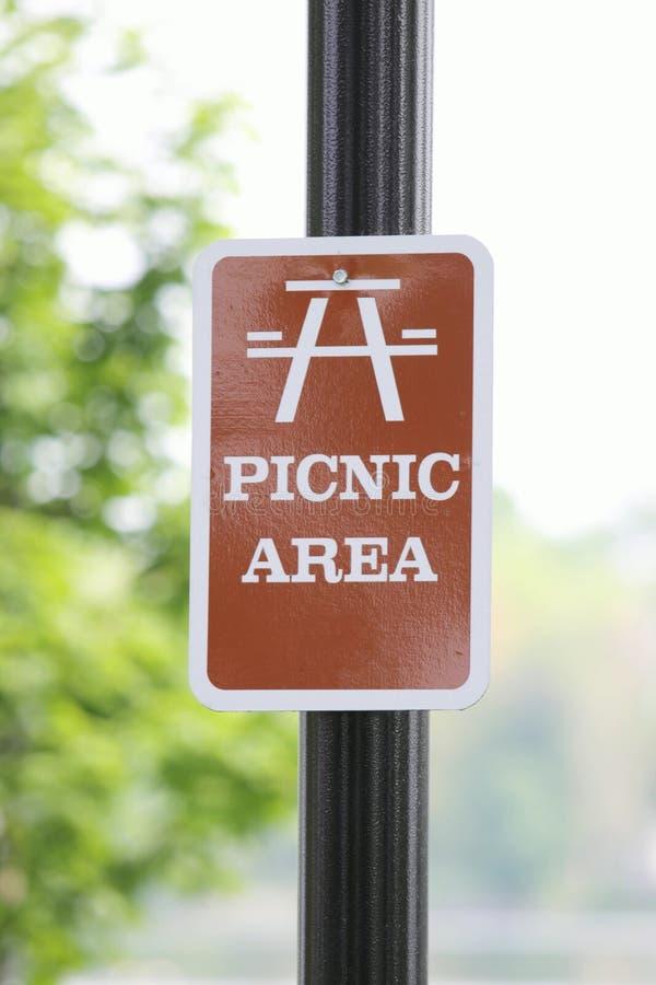 picnic περιοχής σημάδι στοκ φωτογραφία με δικαίωμα ελεύθερης χρήσης