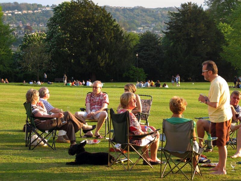 picnic πρεσβύτεροι στοκ φωτογραφία