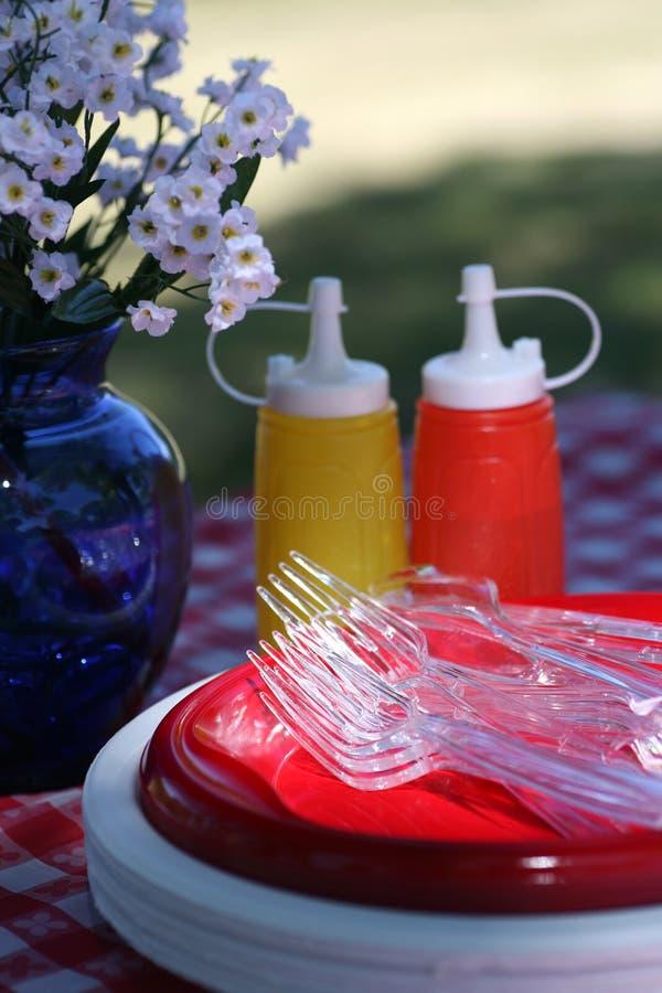 picnic προμήθειες στοκ εικόνες