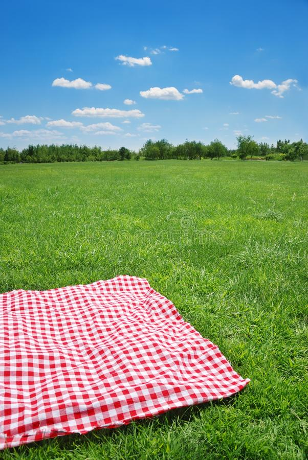 Download Picnic stock image. Image of spring, cloth, field, sunny - 14017719