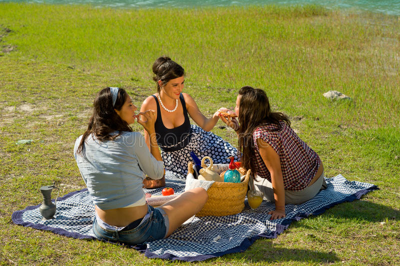 Download Picnic stock photo. Image of female, friends, drinking - 20298290
