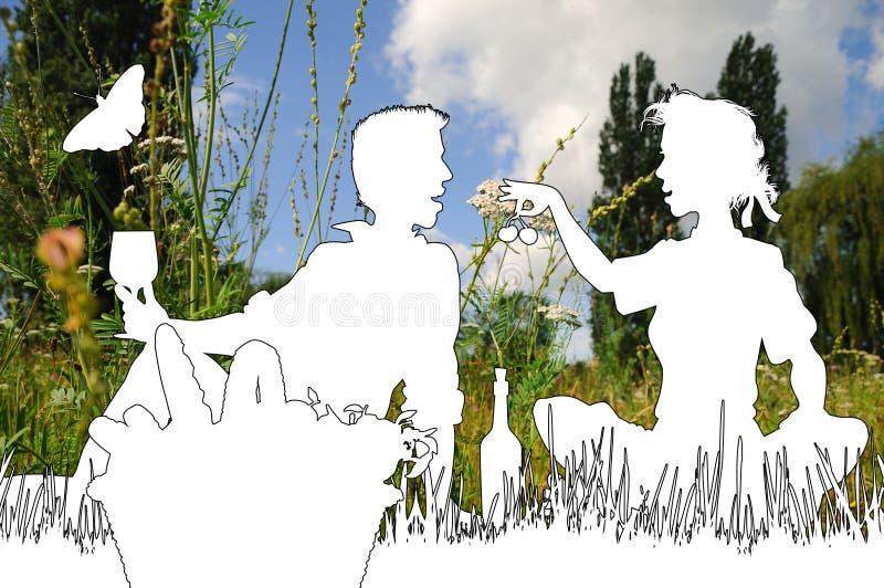Download Picnic stock illustration. Image of enjoyment, basket - 21779307