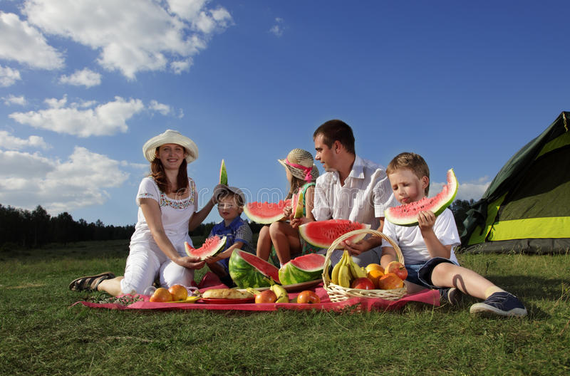 Download Picnic stock photo. Image of activities, child, father - 25845510