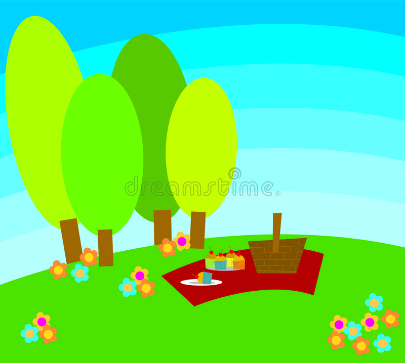 Download Picnic stock illustration. Image of greenery, leisure, park - 592177