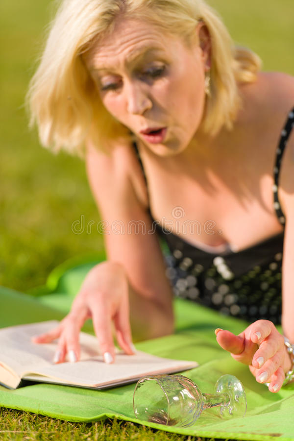 Picnic Accident Stock Images