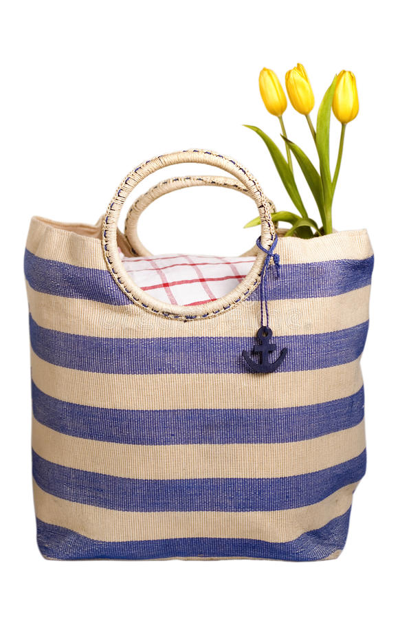 Download Picnic bag with flowers stock image. Image of picnic - 11684489