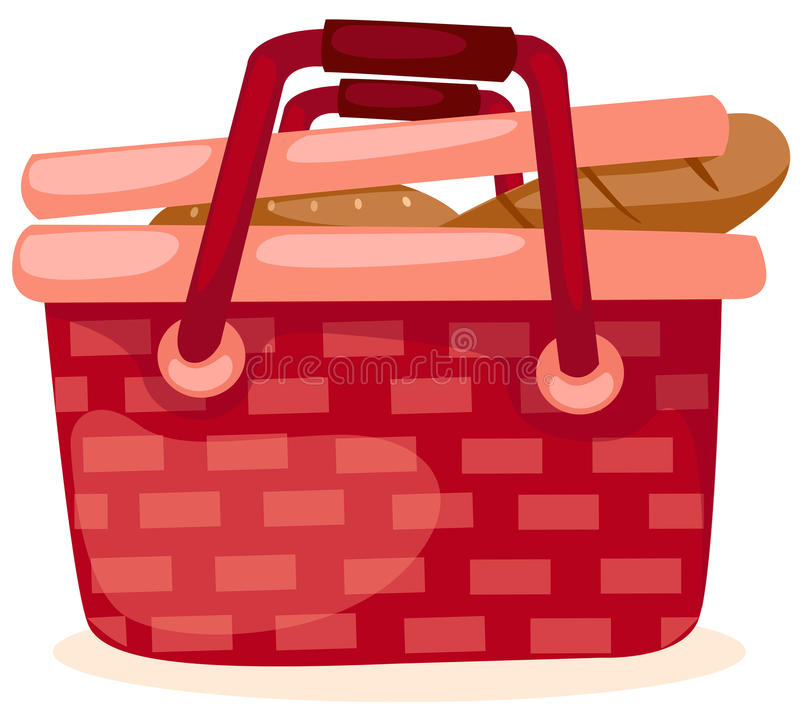 Download Picnic basket stock vector. Image of meal, crust, drawing - 15518371