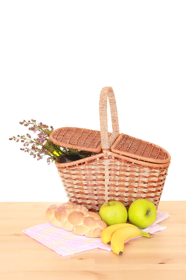 Download Picnic basket stock photo. Image of flowers, trip, wood - 2317268