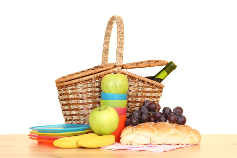 Download Picnic basket stock photo. Image of plastic, alcohol, wine - 2317282