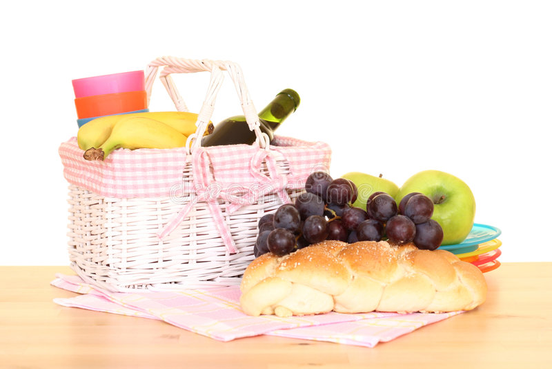 Picnic basket stock photos