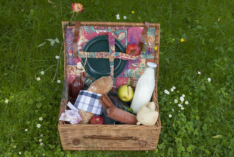 Download Picnic basket stock photo. Image of bangers, camping - 25209624