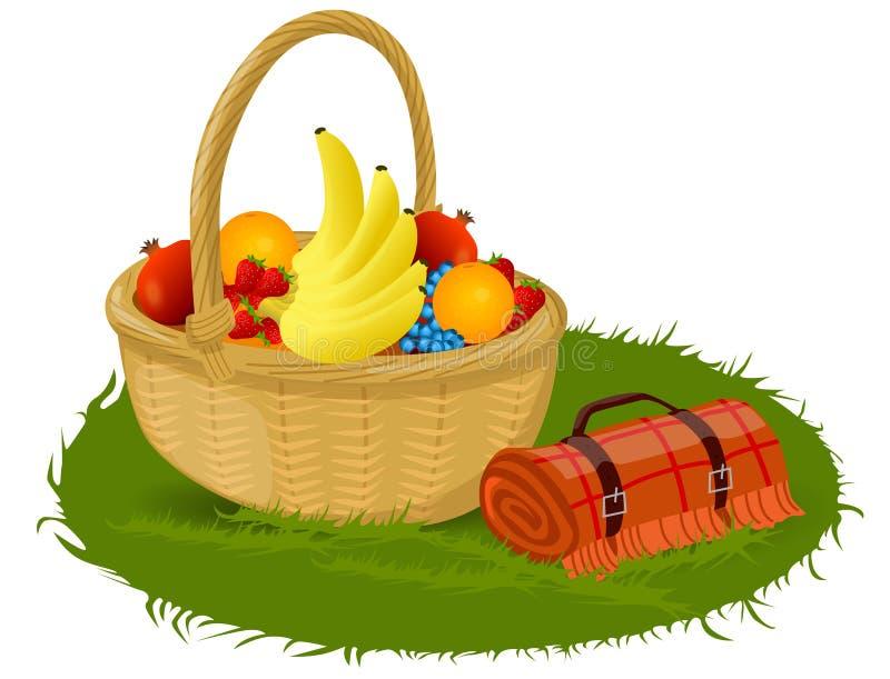 Picnic Basket royalty free illustration