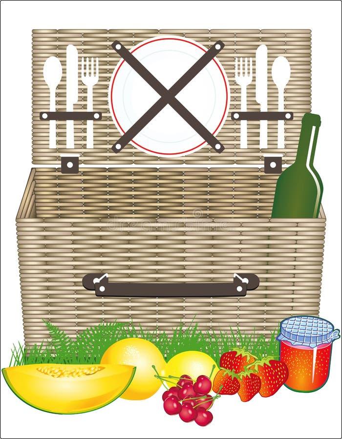 Download Picnic basket stock vector. Illustration of fruit, plates - 31591717
