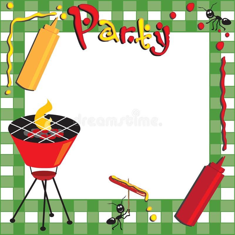 Picnic and BBQ Invitation stock illustration