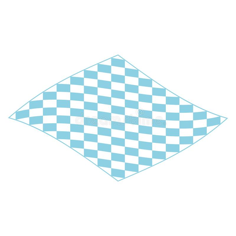 Picnic blanket for outdoor icon, isometric style vector illustration