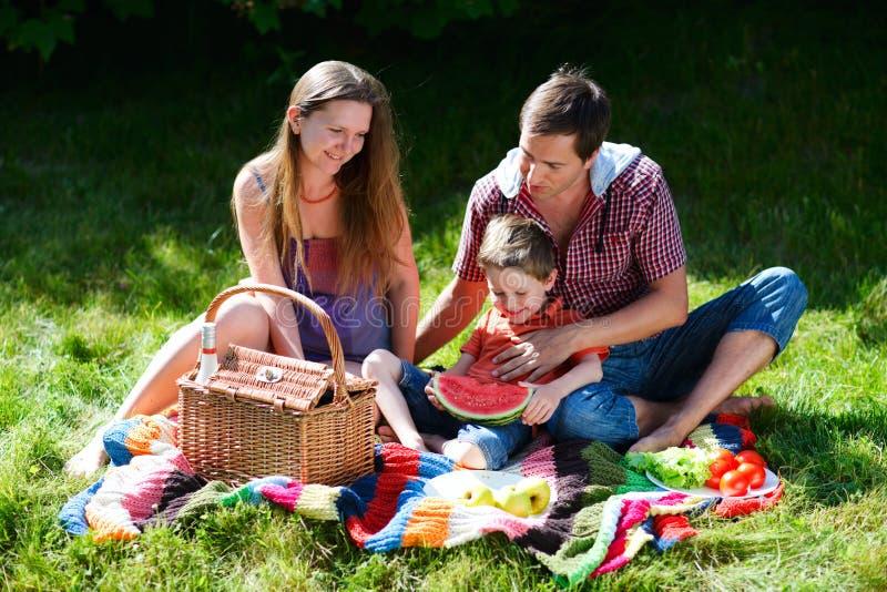 picnic della famiglia fotografie stock