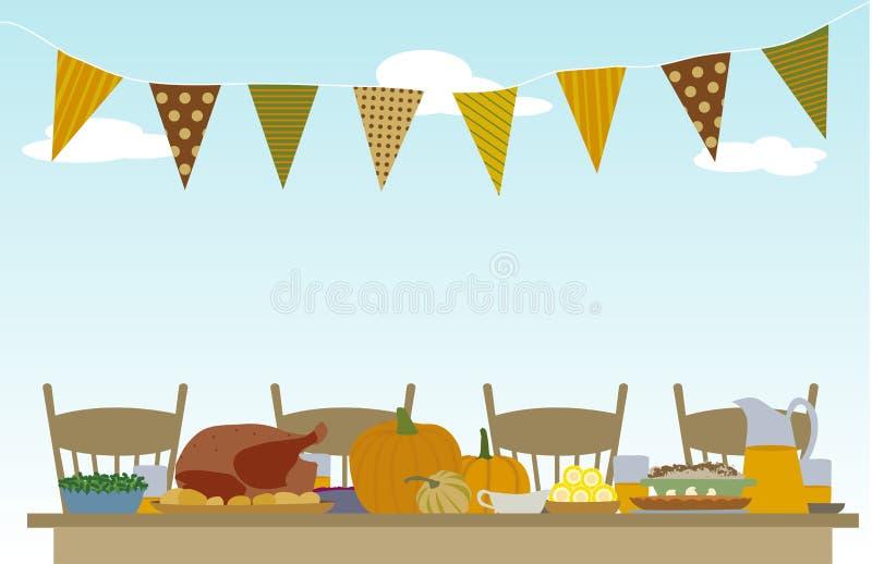 Picnic di giorno di ringraziamento royalty illustrazione gratis