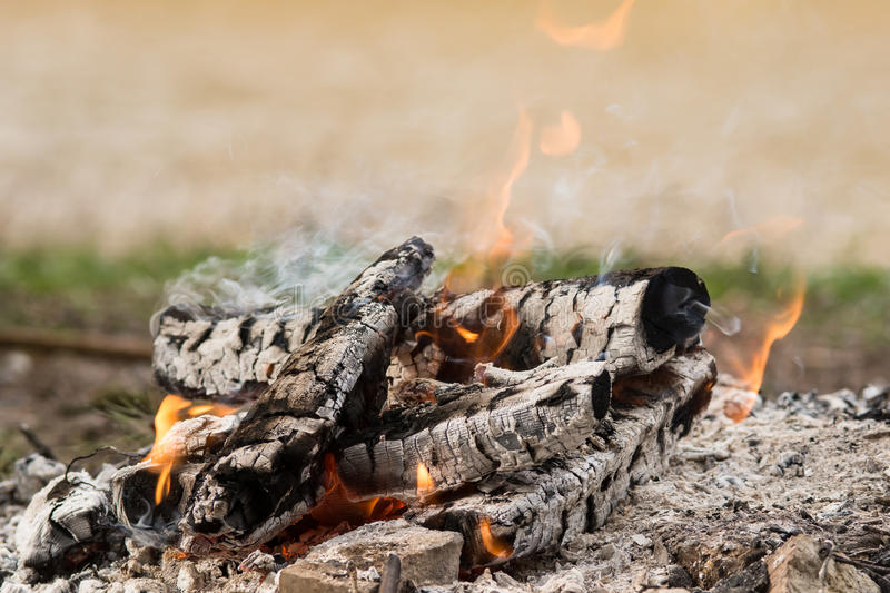 Picnic fire. Place in Giraitiskes Lithuania by river Nemunas royalty free stock photo