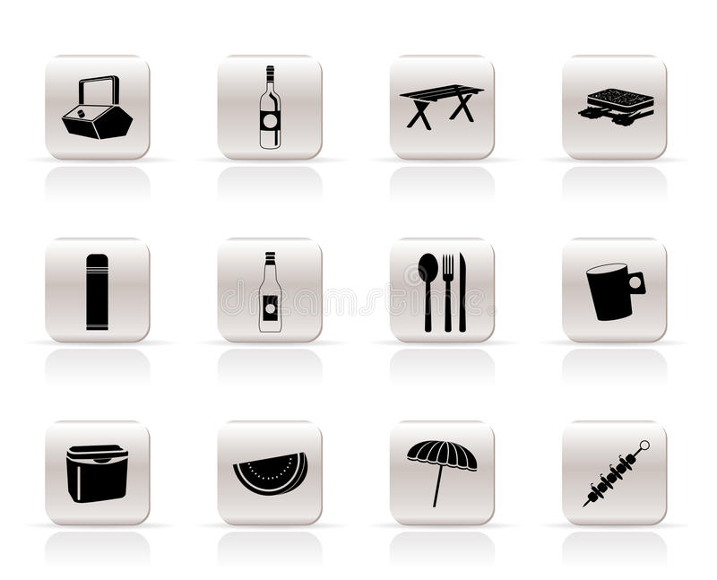 Download Picnic and holiday icons stock vector. Image of icon - 11165864