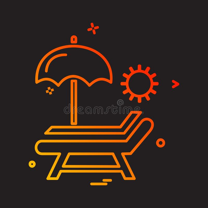 Picnic icon design vector. This Vector EPS 10 illustration is best for print media, web design, application design user interface and infographics with well vector illustration