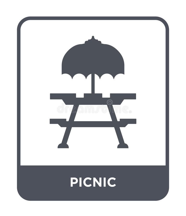 Picnic icon in trendy design style. picnic icon isolated on white background. picnic vector icon simple and modern flat symbol for. Web site, mobile, logo, app stock illustration