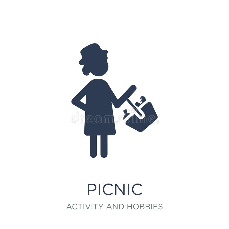 Picnic icon. Trendy flat vector Picnic icon on white background. From Activity and Hobbies collection, vector illustration can be use for web and mobile, eps10 royalty free illustration