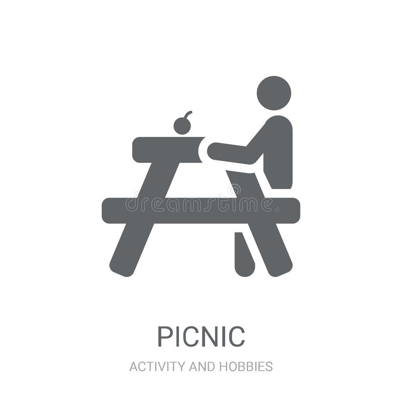 Picnic icon. Trendy Picnic logo concept on white background from. Activity and Hobbies collection. Suitable for use on web apps, mobile apps and print media stock illustration