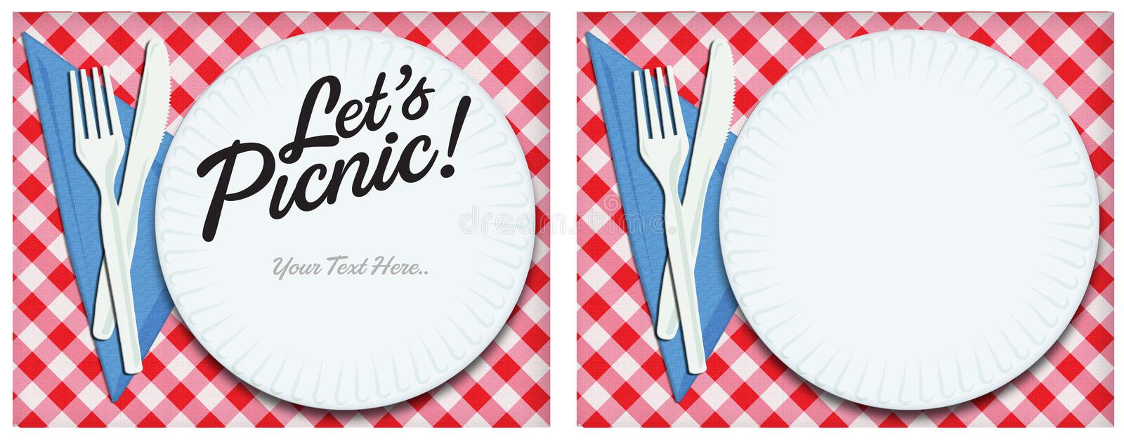 Picnic Invitation Art Stock Illustration Illustration Of Tablecloth