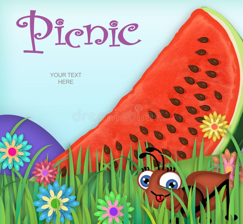 Picnic invitation art stock illustration illustration of giant download picnic invitation art stock illustration illustration of giant 108013684 stopboris Images