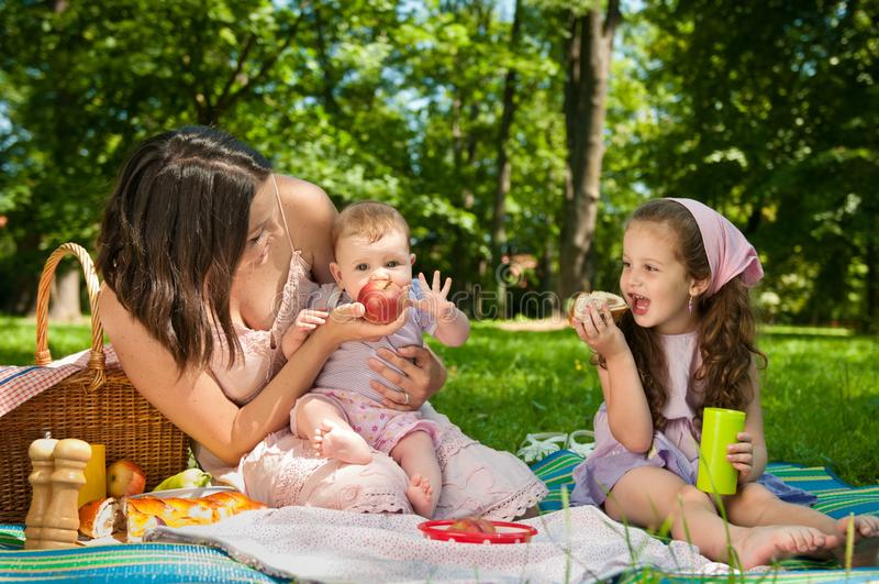 Download Picnic - Mother With Children Stock Photo - Image: 24196552
