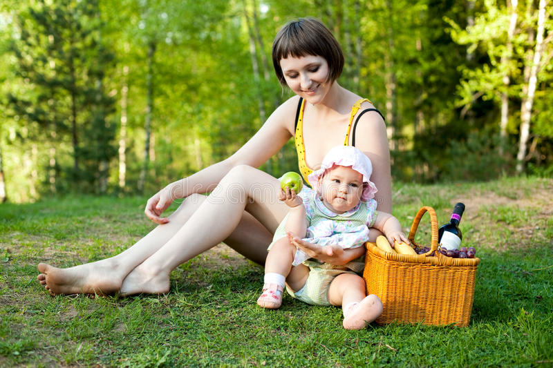 Picnic in the nature royalty free stock photography