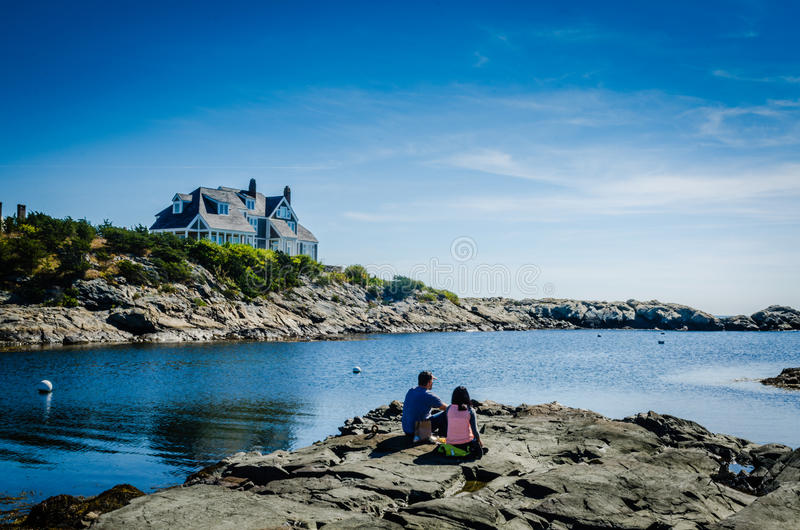 Picnic by the Ocean - Newport RI royalty free stock images